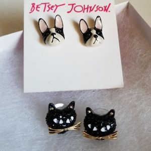 Two Sets of Betsy Johnson Earrings